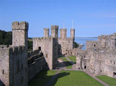 Caernarfon Castle Interior by Wales Caernarfon Castle Travel