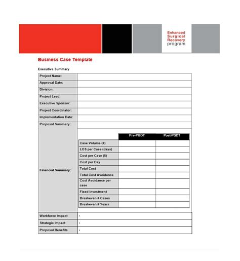 30 simple business case templates exles template lab