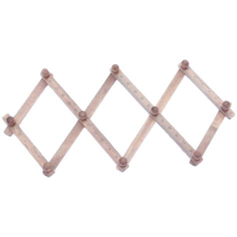 Expandable Wall Rack by Expandable Expanding Wooden Coat Rack Hook With 10 Pegs