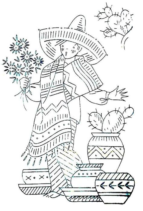 mexican boy coloring page stitchy britches