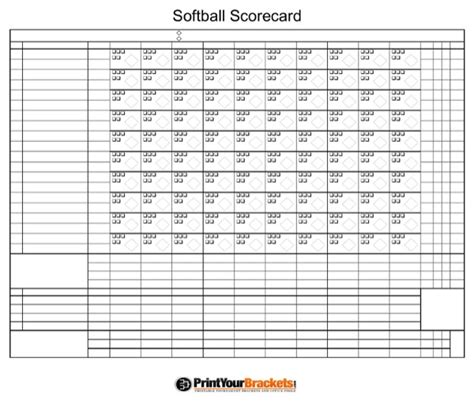 download softball scorecard for free formtemplate
