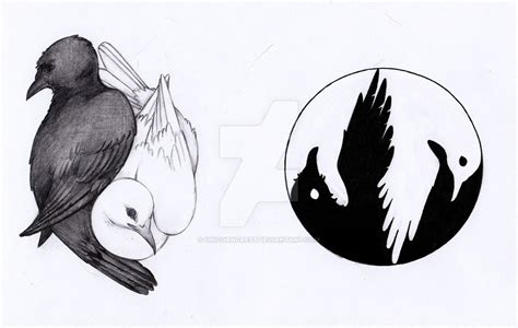 raven dove yin yang samples by unicorncrest on deviantart