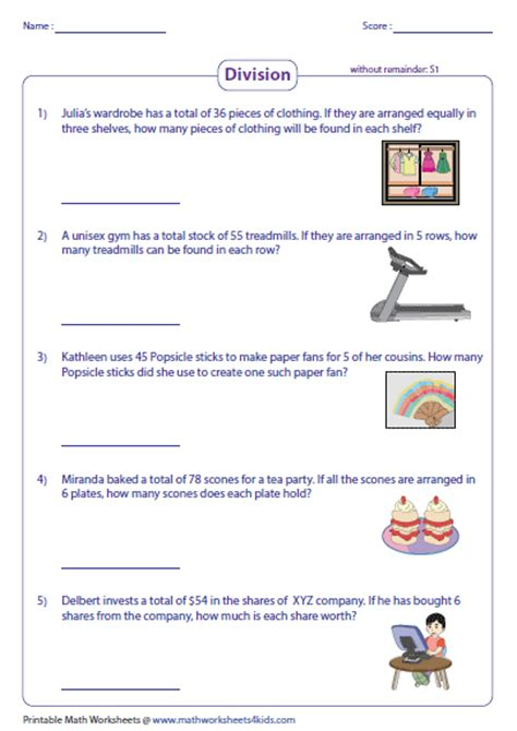 free printable worksheets on division word problems 4th grade 187 4th grade division word problems with
