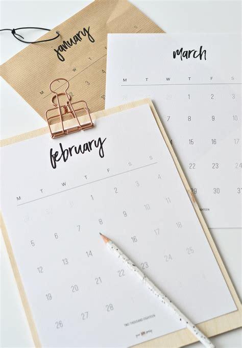 printable calendar 2018 decorative free printable february 2018 calendar diy home decor