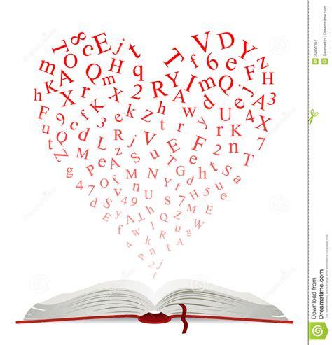 libro lettere appassionate libro aperto con cuore delle lettere fotografia stock libera da diritti immagine 30951957