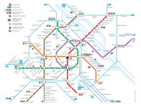 Vienna Subway Map by Underground Map Vienna Pdf