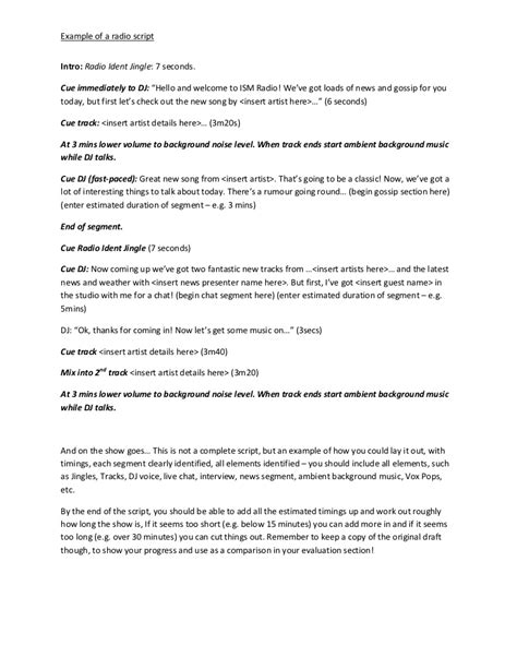 News Script Template by News Script Template Choice Image Template Design Ideas