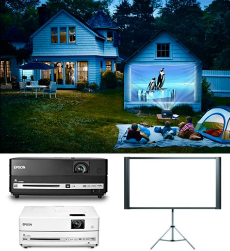 backyard movie night projector outdoor movie night with epson bloomize