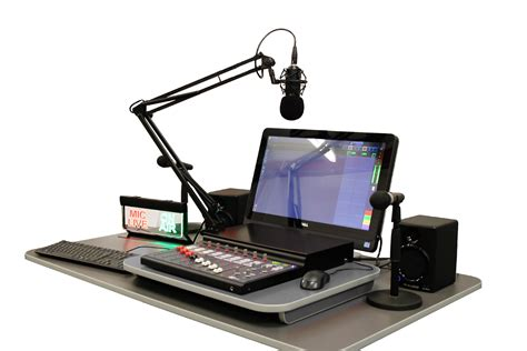 radio studio desk synergy school radio desktop premium package all in one