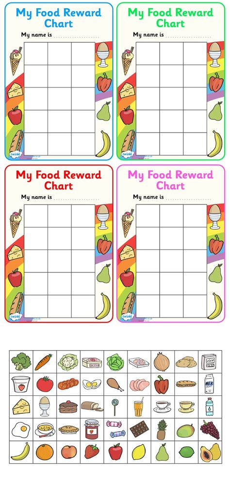 Get Rewarded For Healthy Behavior by Twinkl Resources Gt Gt My Food Reward Chart Gt Gt Classroom