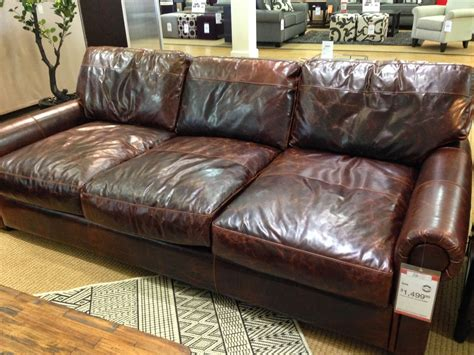restoration hardware leather sofa picture modern