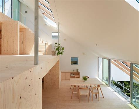 designboom japan house clever interiors make the most of steep sloped site in