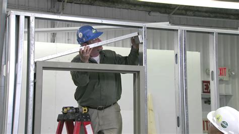 Install Door Frame by How To Install A Steel Door Frame In Steel Stud