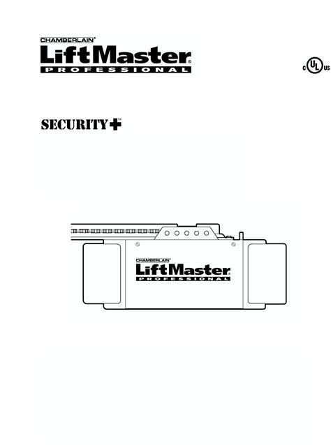 Chamberlain 1 2 Hp Garage Door Opener Manual Chamberlain Garage Door Opener 1265lmc 1 2 Hp User Guide Manualsonline