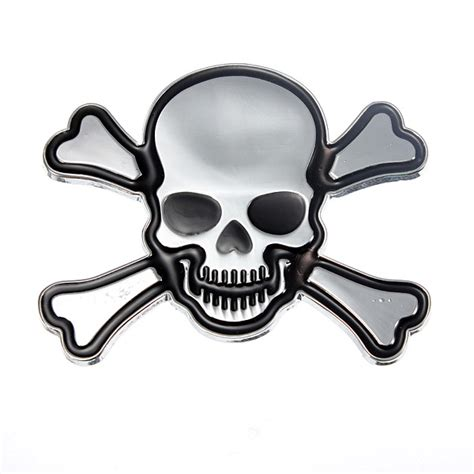 skeleton head skull car decorative sticker alex nld