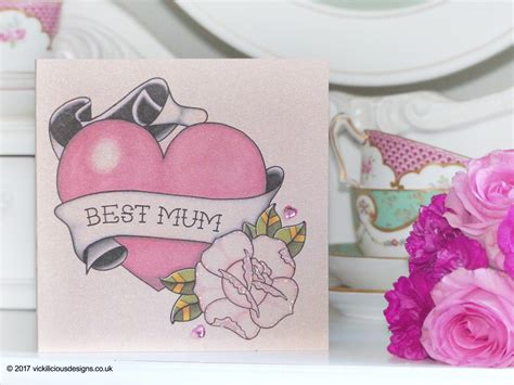 best mothers day cards handmade mother s day card vintage lipstick tattoo vickilicious designs