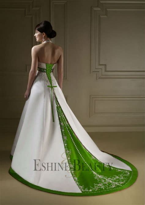 white and green wedding dresses green and white wedding dresses