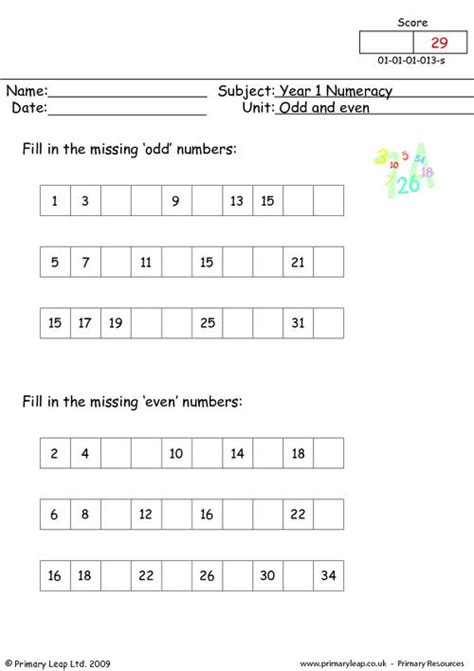 Even And Numbers Worksheets Grade 2 by Common Worksheets 187 Even And Numbers Worksheets