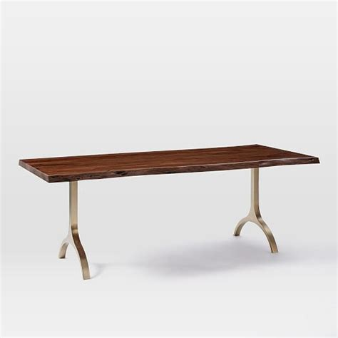 Cast Trestle Dining Table Elm