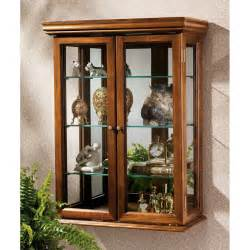 Curio Cabinet For Wall Brown Wall Mounted Cabinets Glass Inspiration Decosee