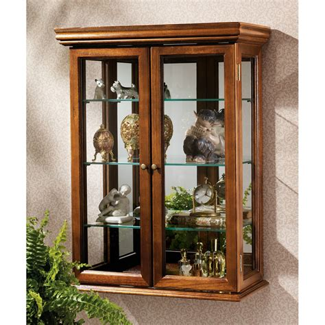 wall mounted curio cabinet with glass doors brown wall mounted cabinets glass inspiration decosee