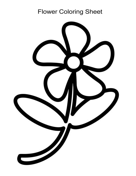a coloring sheet 10 flower coloring sheets for and boys free