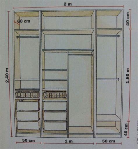 medidas para vestidores medidas closets armario placares y vestidor