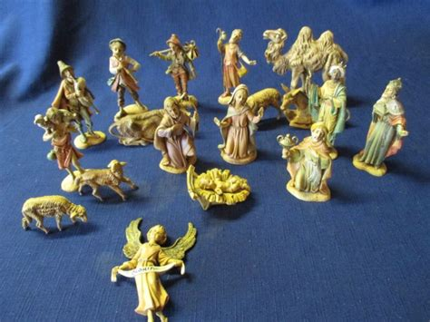 vintage 19 piece nativity set from italy fontanini spider shop collectibles daily