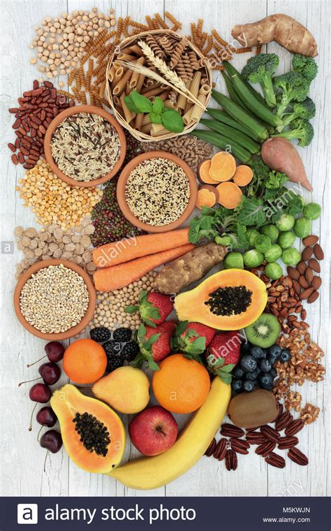 Fresh Fruit Veggie And Whole Grain Detox high fibre fruit stock photos high fibre fruit stock