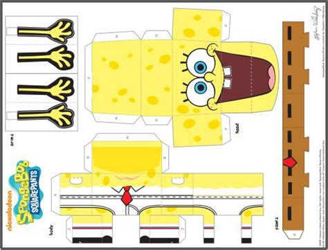 Spongebob Papercraft - spongebob squarepants papercraft pictures to pin on