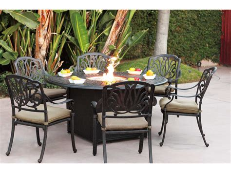 Propane Patio Table Darlee Outdoor Living Series 60 Cast Aluminum 60 Propane Pit Dining Table 201060 Gd