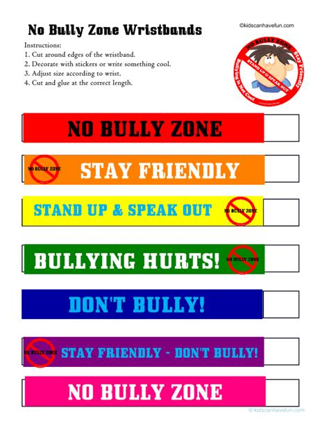No Bullying Activities, Posters, Certificates, Worksheets