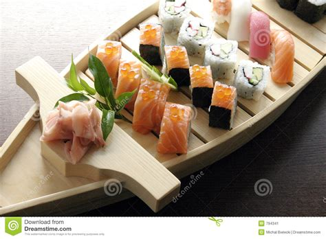 Sushi Traditional Japanese Food Stock Image   Image: 794341