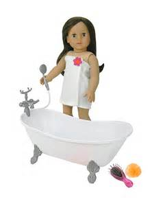 18 inch doll bathtub with shower fits american doll