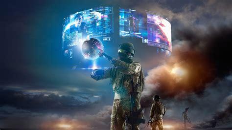 desktop wallpaper virtual girl virtual reality vr military 4k wallpapers hd wallpapers