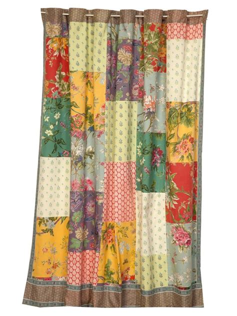 Patchwork Shower Curtains - patchwork shower curtain keria 72x75 gathering home