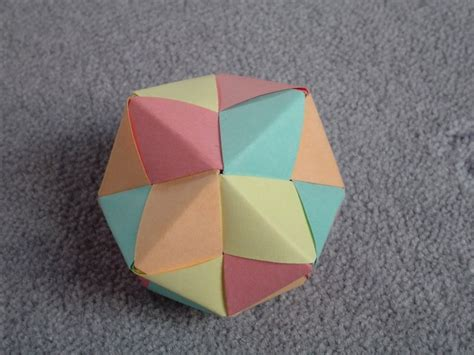 How To Make Origami Sphere - modular origami spiky balls and stellated polyhedra