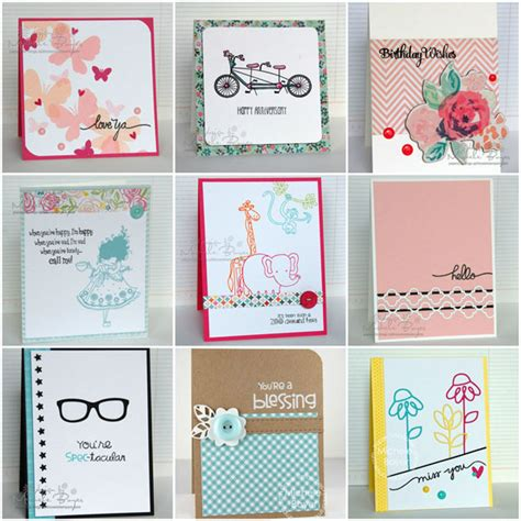 Easy Handmade Cards Ideas - 9 easy card ideas that take 15 minutes or less
