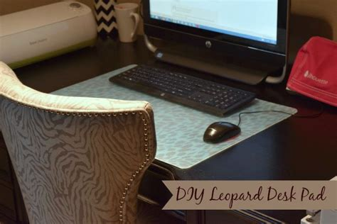 leopard print desk calendar diy leopard desk pad love this can be done with any