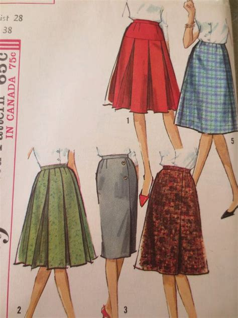 vintage simplicity 5627 sewing pattern 1960s skirt