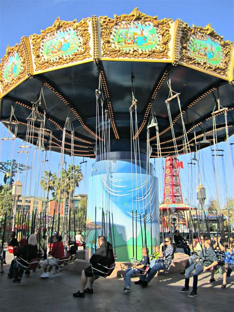 silly symphony swings disneyland ca adventure training rides of paradise pier