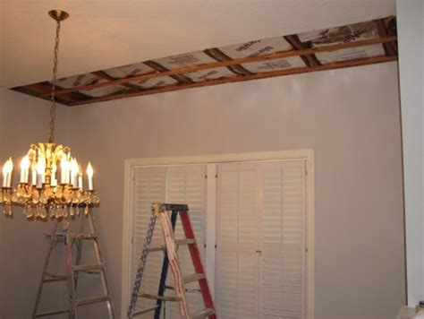 X Pole Ceiling Damage by Project Drywall Painting Repair Melbourne