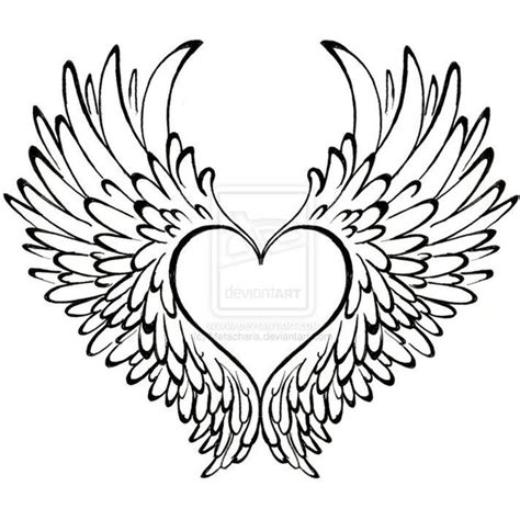 tattoo with angel wings and heart heart with wings tattoo by metacharis liked on polyvore
