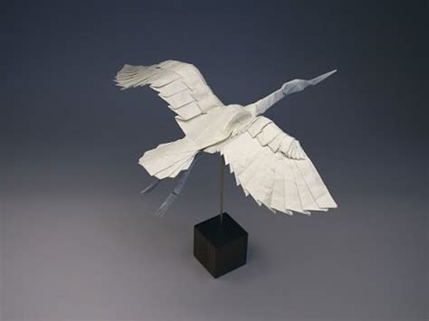 Complex Origami Swan - origami bird collections robert j lang