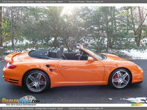 porsche orange paint 2009 porsche 911 turbo cabriolet orange paint to sle