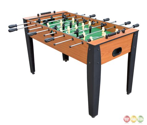 light up foosball table hurricane 54 quot foosball table in light cherry wood tone finish