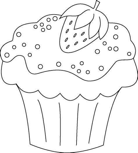 free coloring pages of christmas cupcake