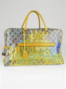 Louis Vuitton Richard Prince Big City After Handbag Line by Louis Vuitton Richard Prince Jaune Denim Defile Weekender
