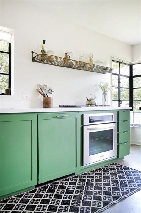 kitchens with shelves green 5 easy high impact rental decorating ideas that can move
