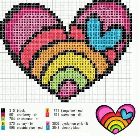 heart pattern rainbow rainbow heart love perler bead pattern plur pinterest